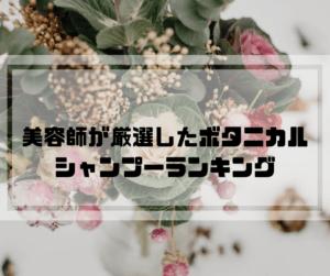 【ボタニカルシャンプーおすすめランキング3選】美容師厳選【2020】